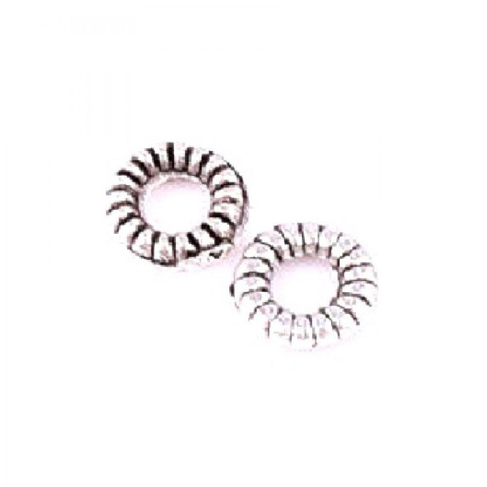 4.5 милиметра антично сребро пръстени за плитки