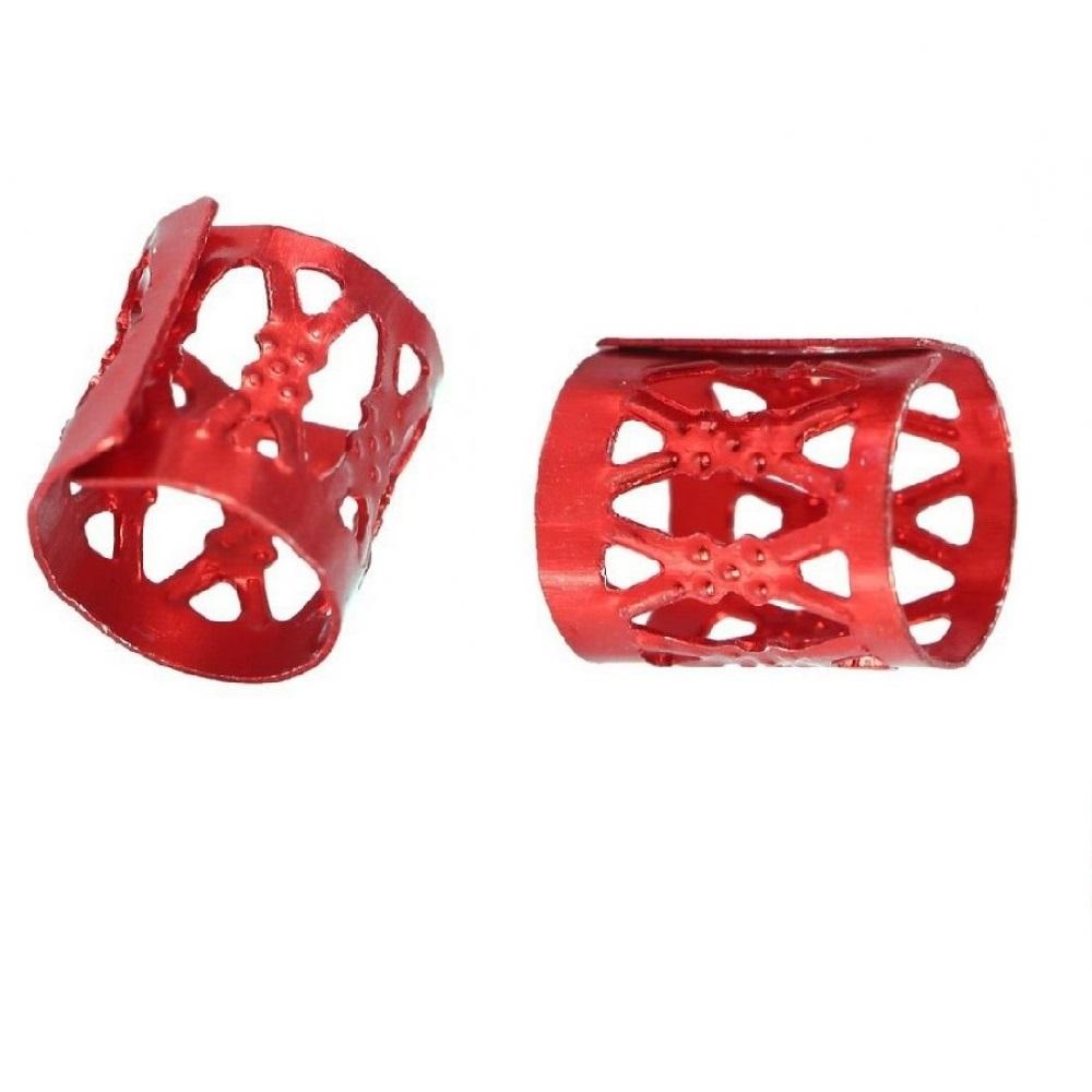 Червени пръстени за плитки