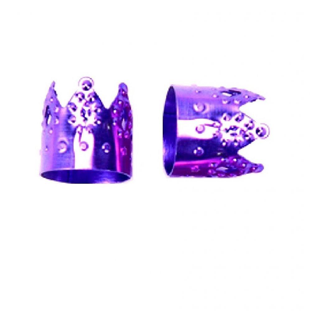 Лилави корони за плитки