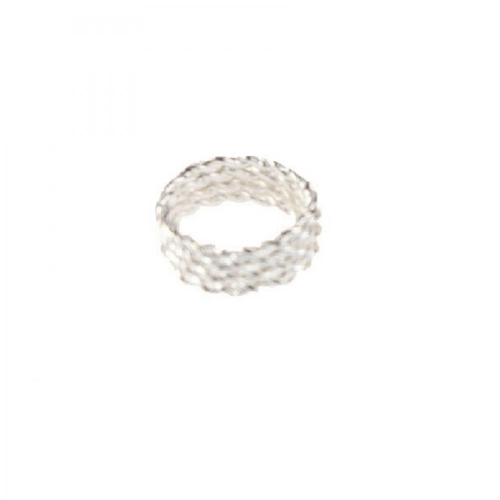 Обица за коса бял пръстен халка