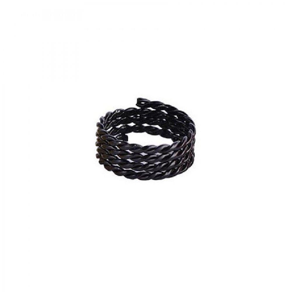 Обица за коса черен пръстен халка