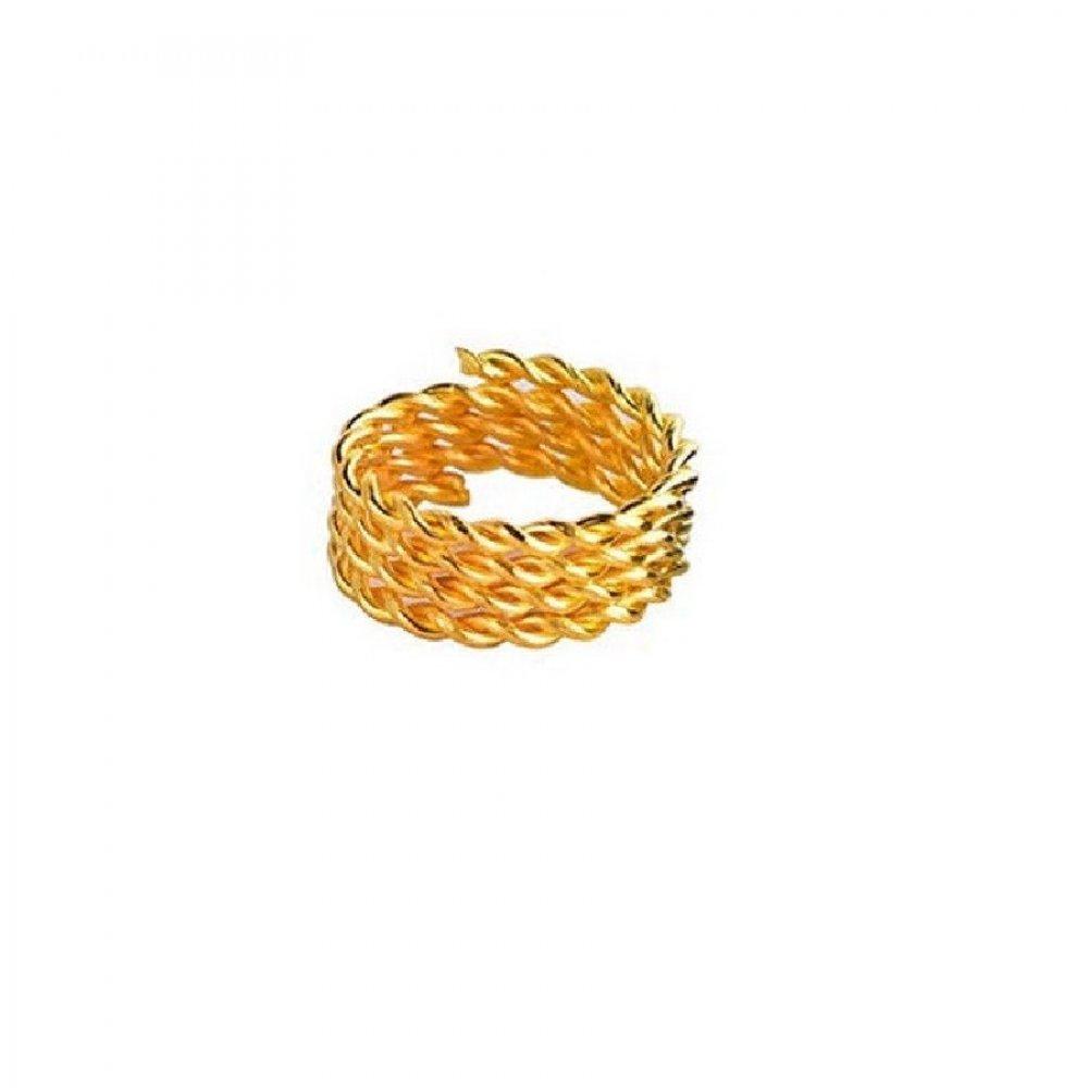 Обица за коса златен пръстен халка