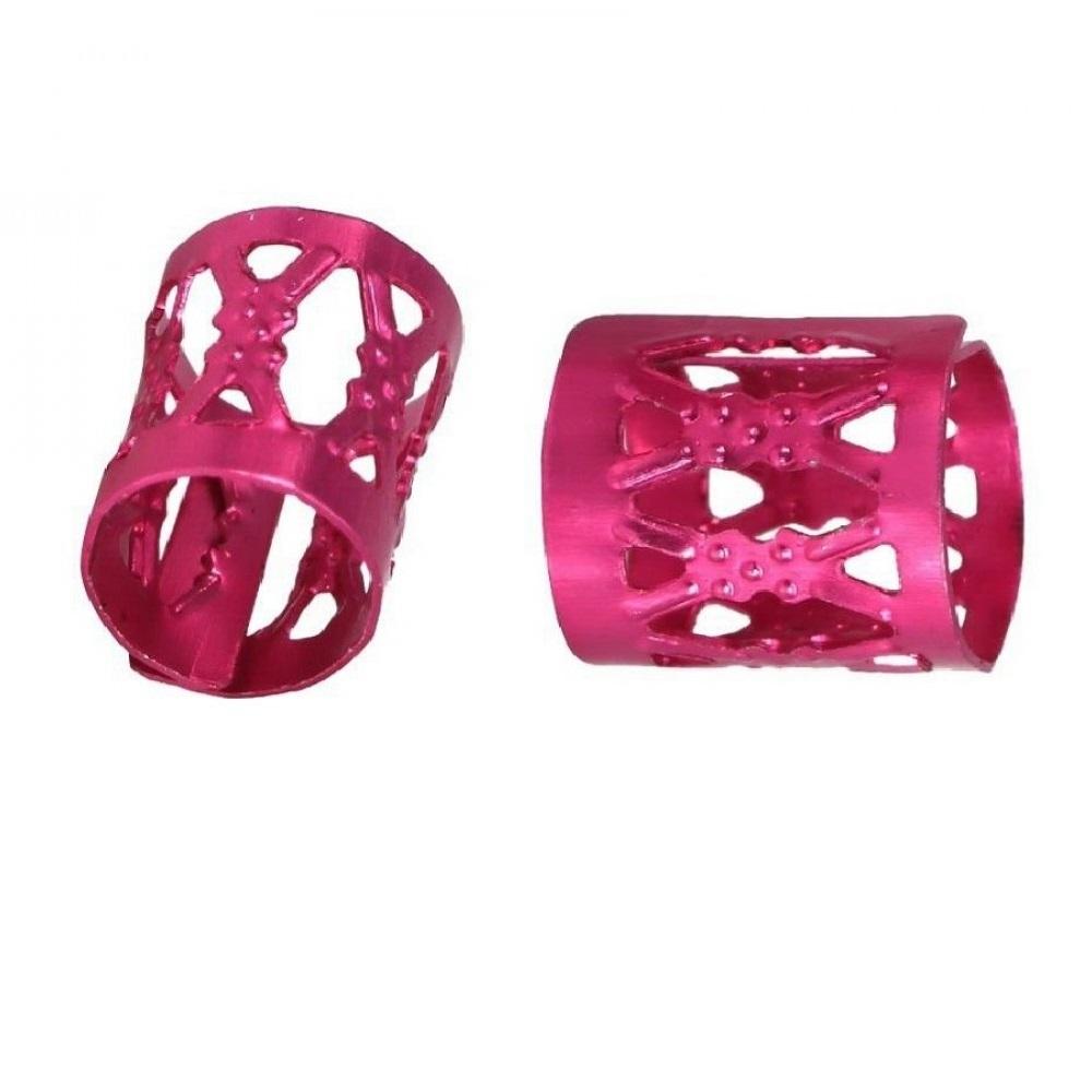 Розови пръстени за плитки 10 броя