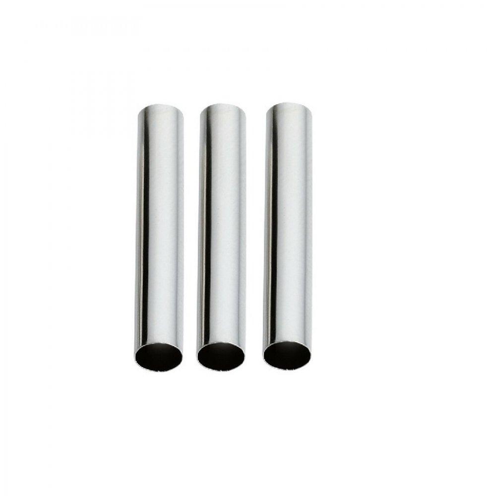 Сребърни цилиндри за плитки 3 броя