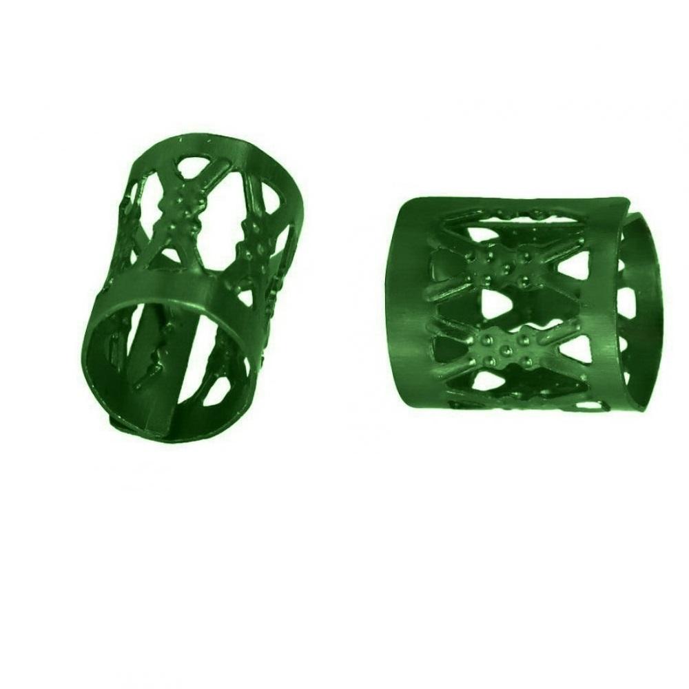 Зелени пръстени за плитки 10 броя