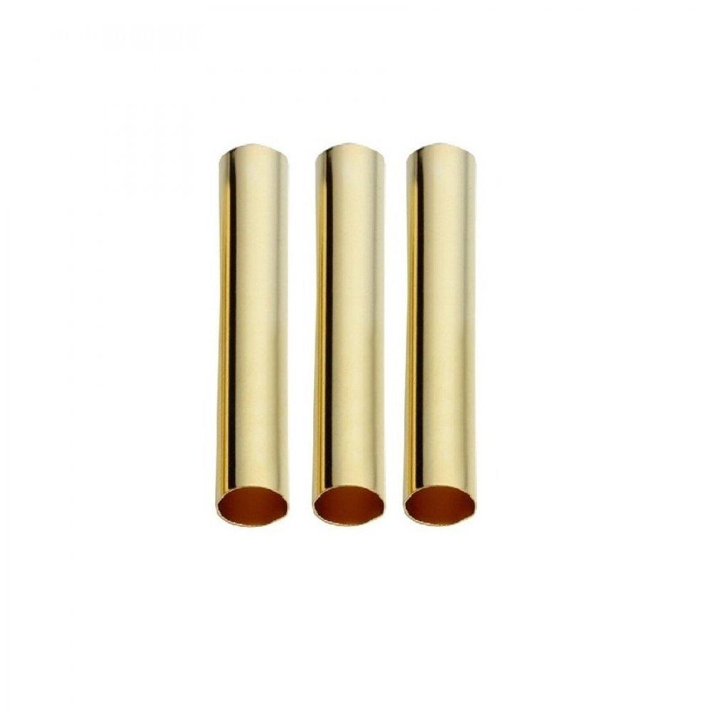 Златни цилиндри за плитки 3 броя
