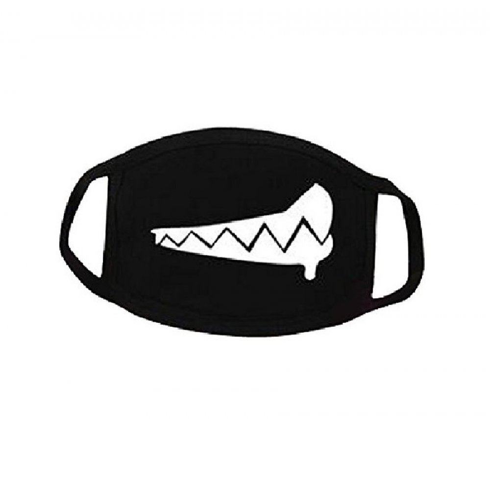 Черна антибактериална маска - бял капан