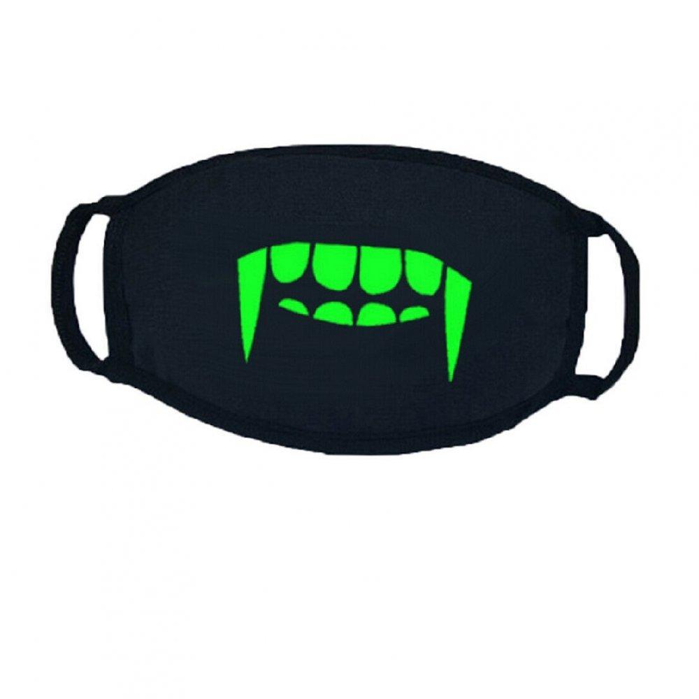 Маска против вируси със светещи зъби