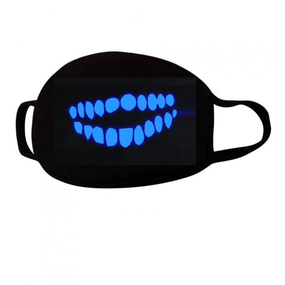 Маска с бели през деня - сини през нощта зъби