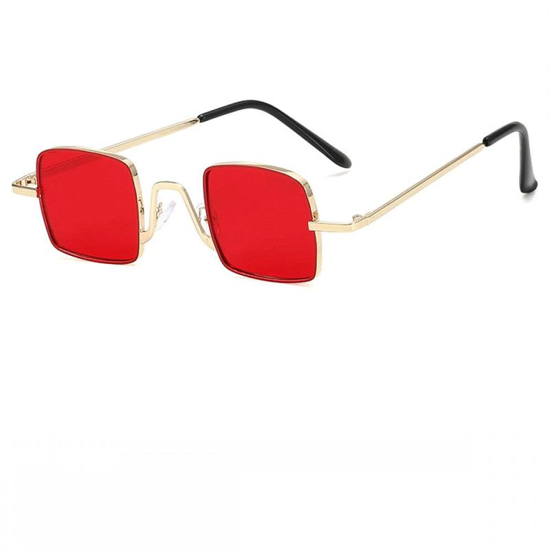 Очила с червени квадрати