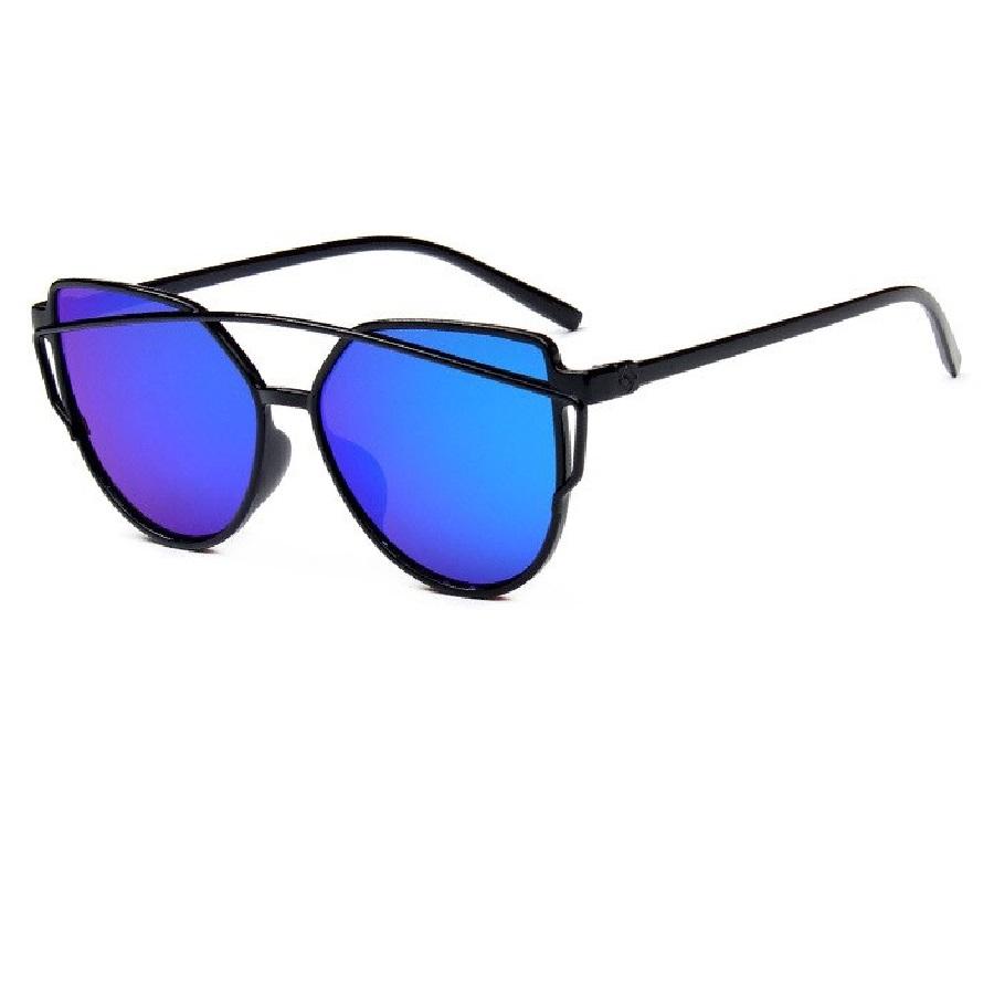Огледални сини котешки очила