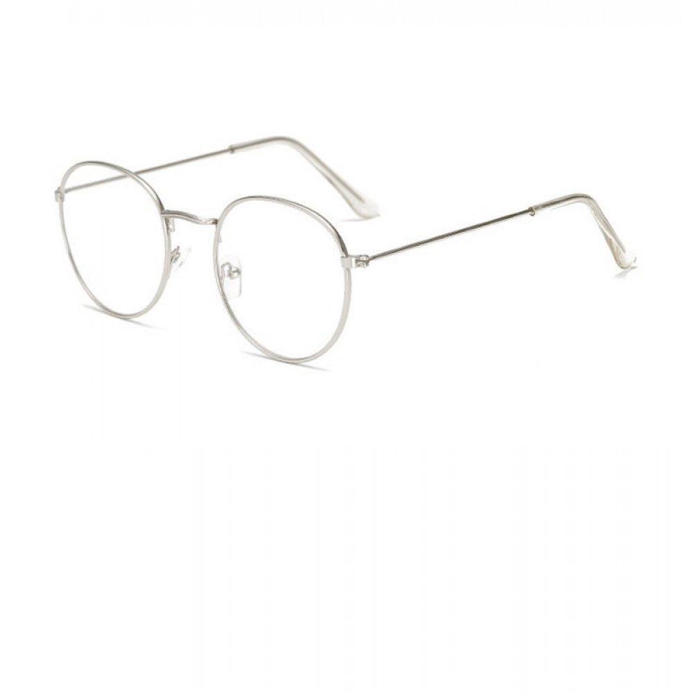 Прозрачни овални очила сребърни рамки