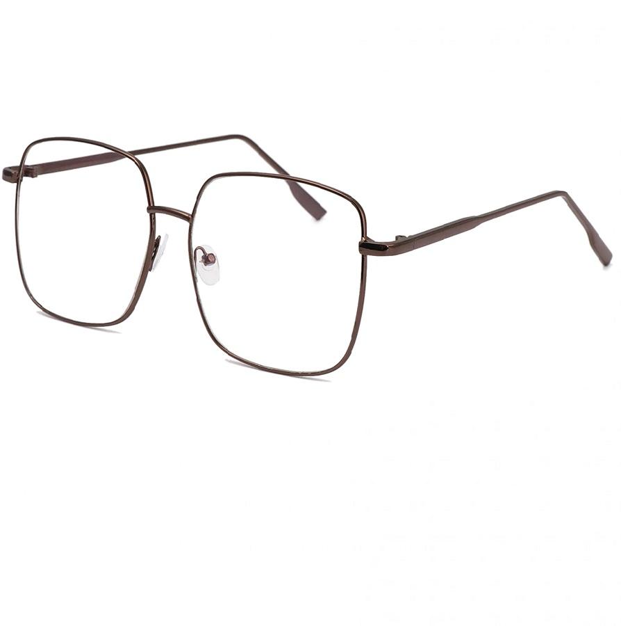 Очила за компютър с големи стъкла бронзови