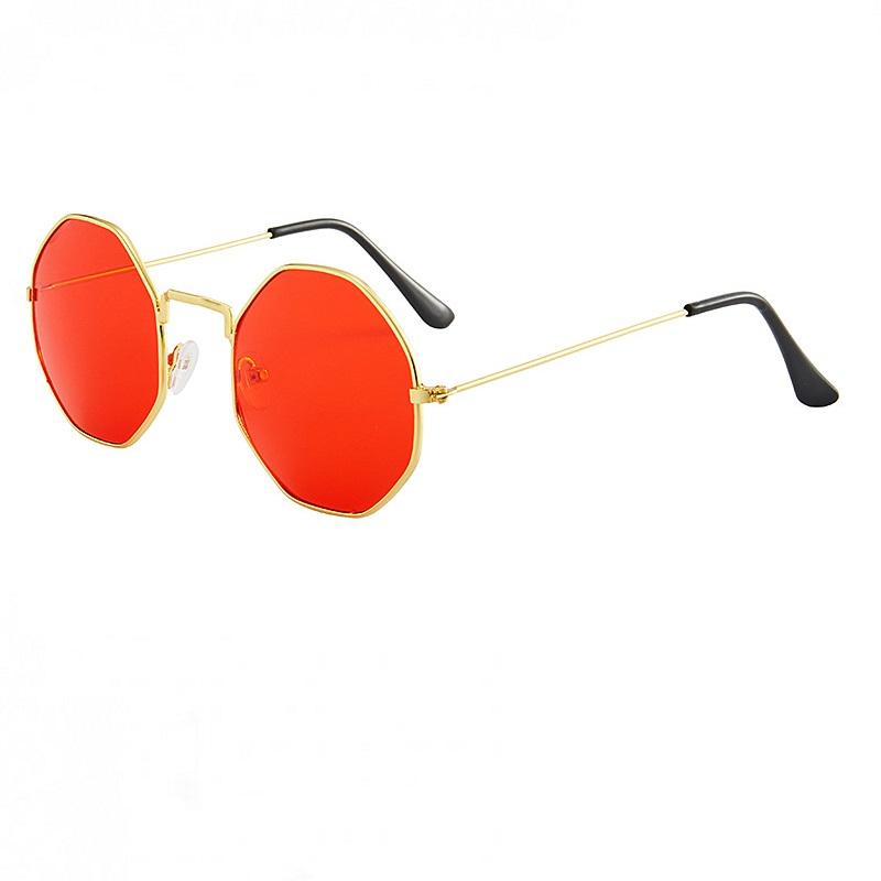 Осмоъгълни червени очила