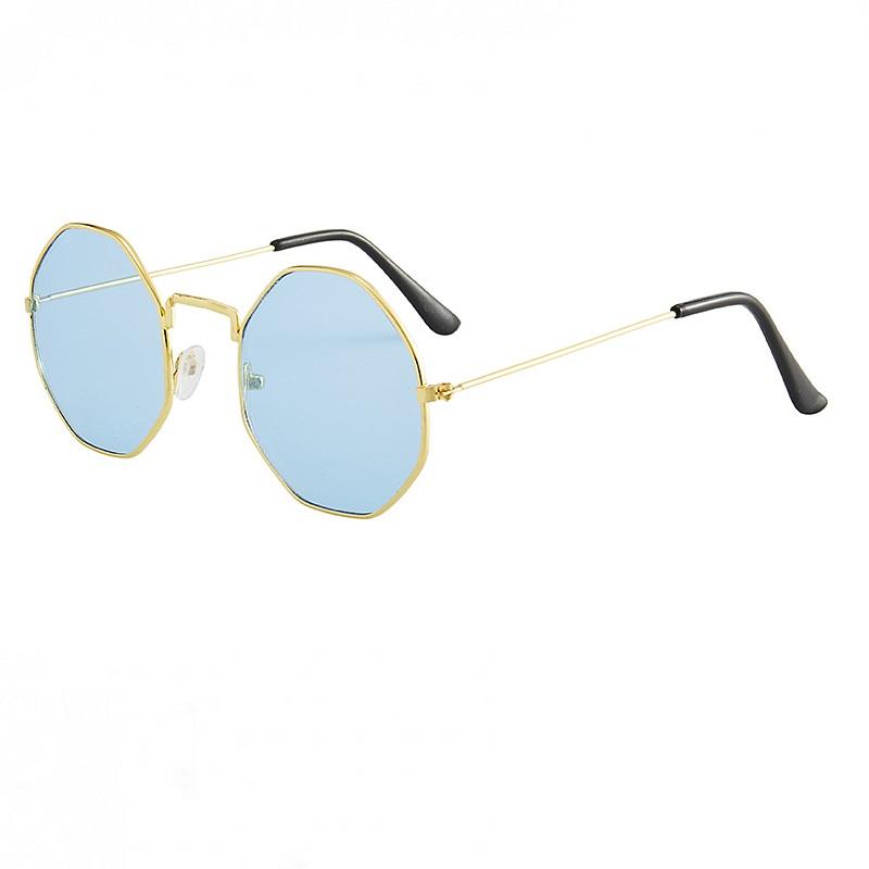 Осмоъгълни очила с метални рамки