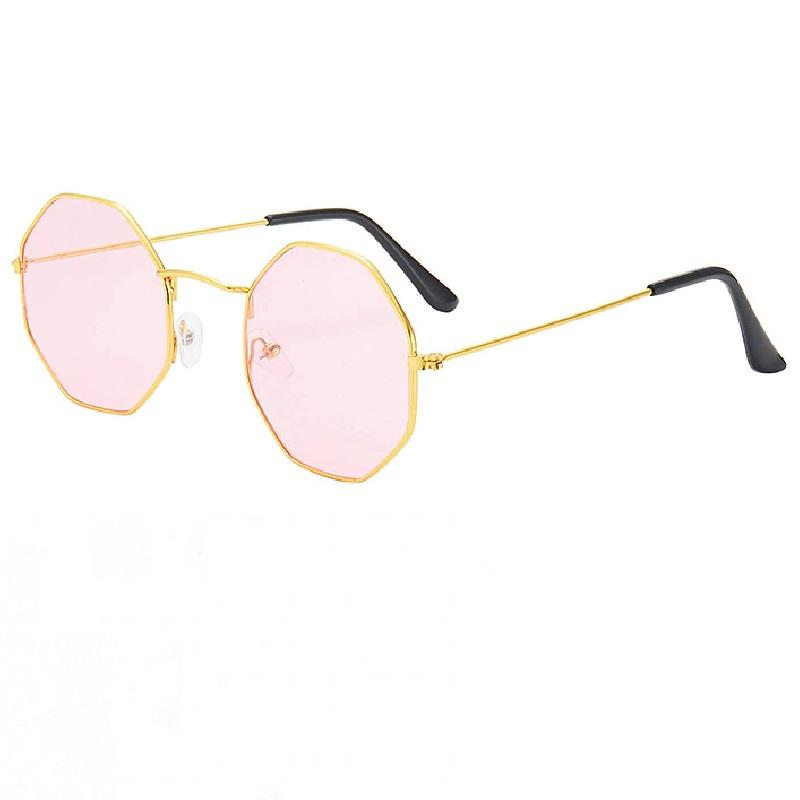 Осмоъгълни розови очила