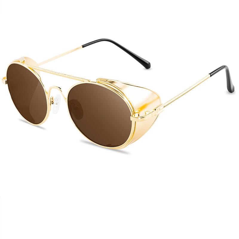 Златни слънчеви очила с панти
