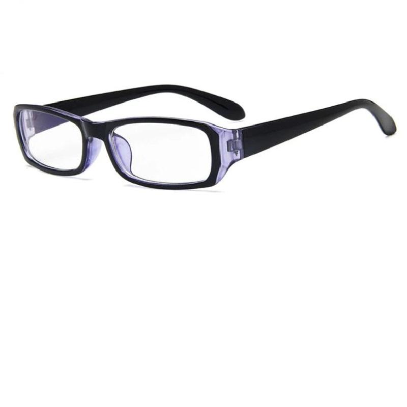 Очила с прозрачни стъкла в черно и синьо