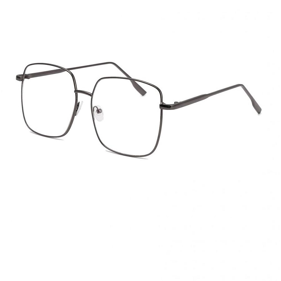 Очила за компютър с големи стъкла сиви рамки