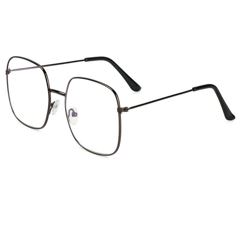 Очила сиви рамки с правоъгълни стъкла голям размер