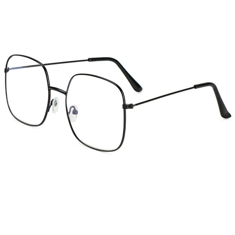 Очила за компютър с правоъгълни големи стъкла
