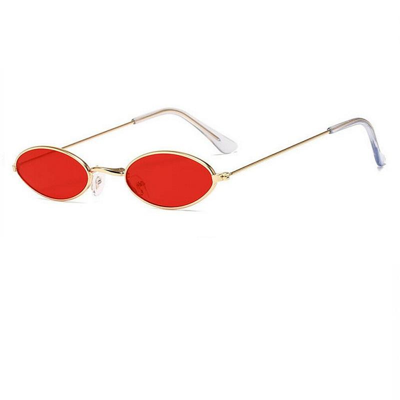 Овални червени очила