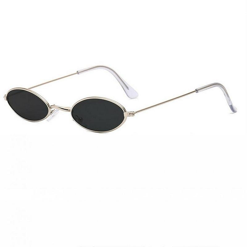 Овални слънчеви очила сребърни рамки