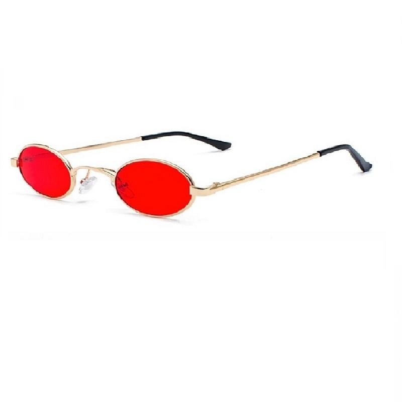 Унисекс очила с червени овални стъкла