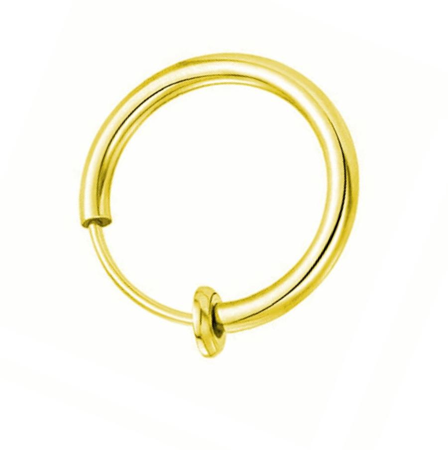 Халка с пружина в златен цвят