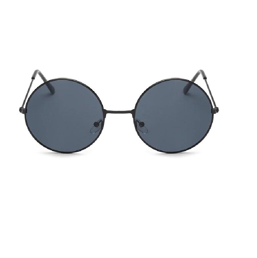 Кръгли очила черни стъкла черни рамки