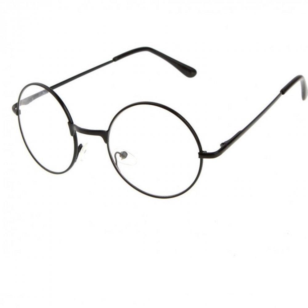 Прозрачни унисекс очила тънки черни рамки
