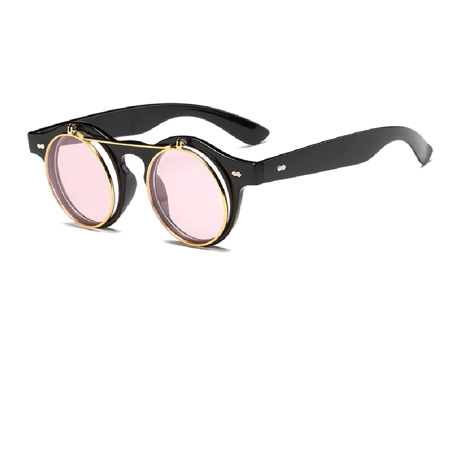 Очила с розови и прозрачни стъкла