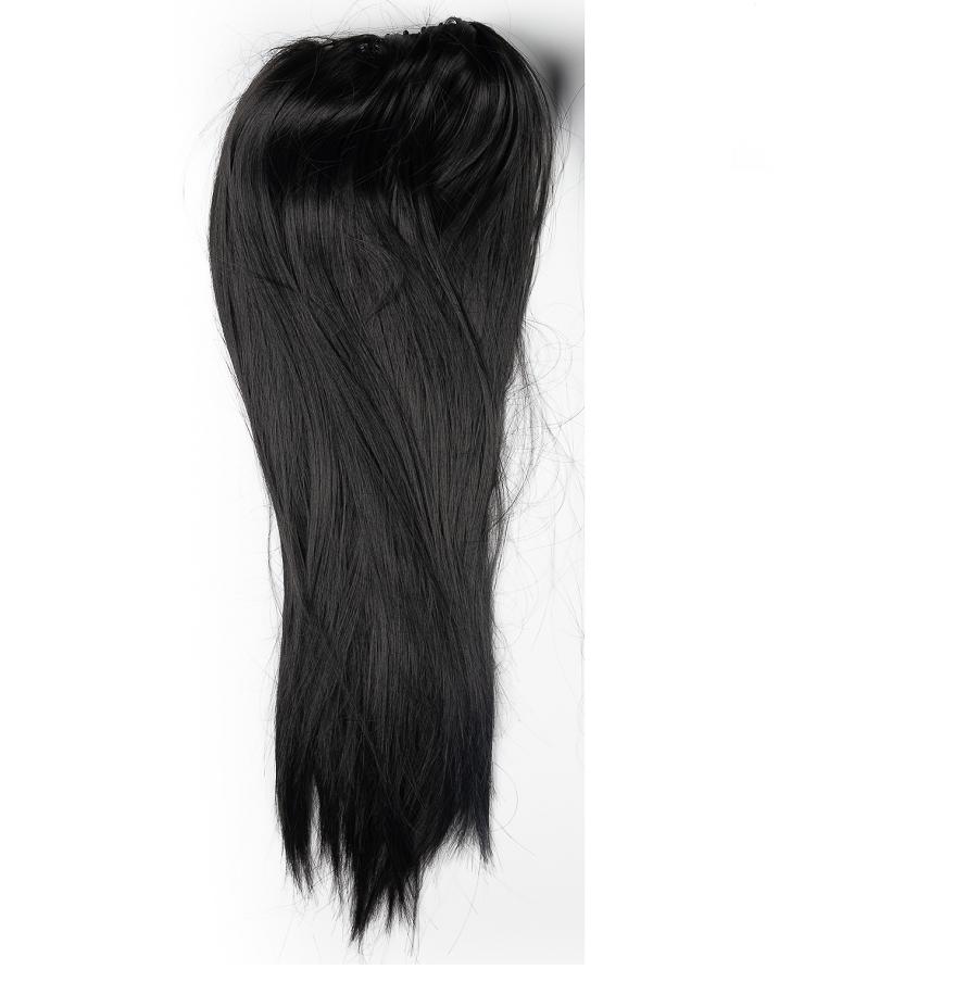 Черни изкуствени коси на шнола 65 сантиметра дължина