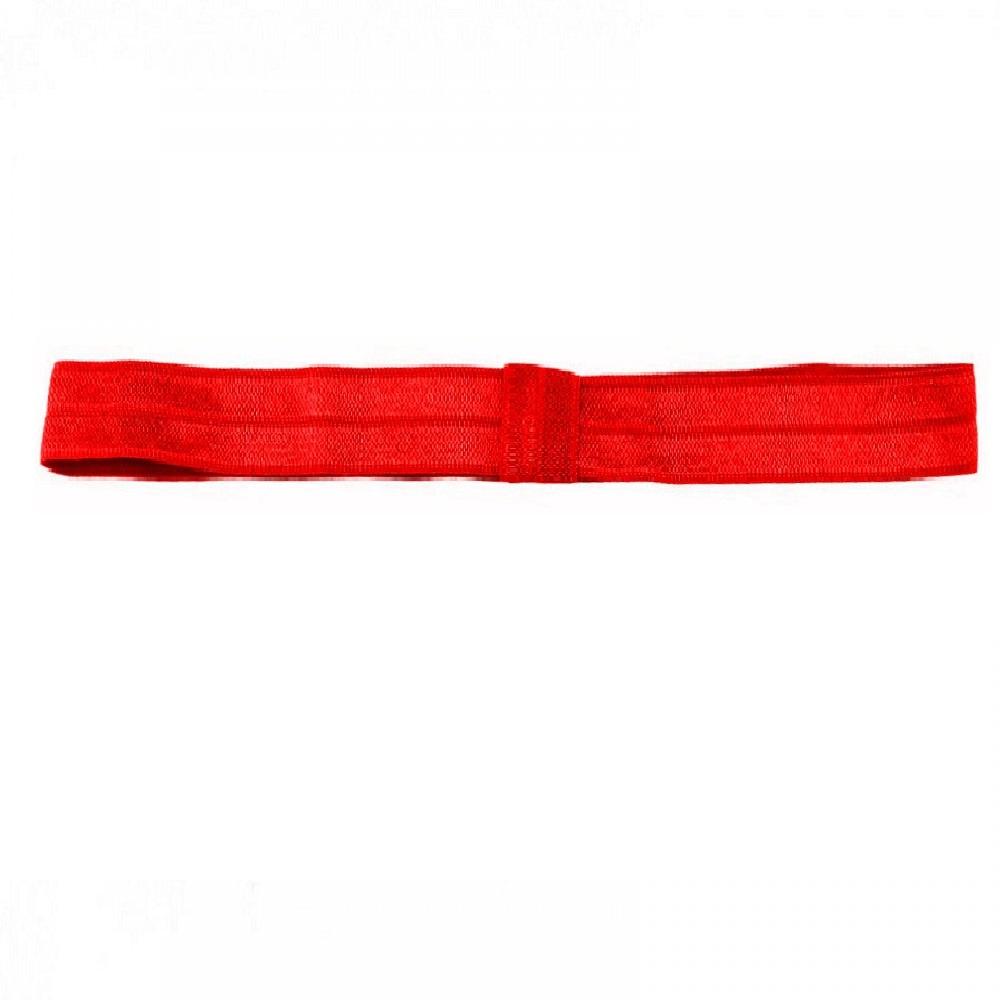 Червена йога лента 1.5 сантиметра ширина