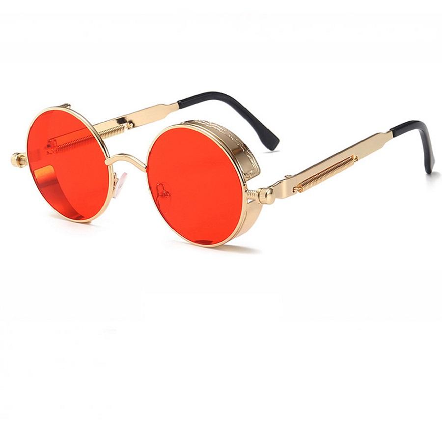 Червени кръгли очила