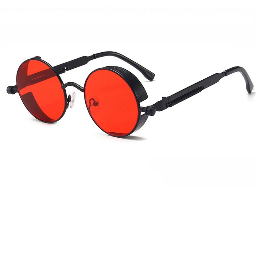 Червени очила с декоративни винтове