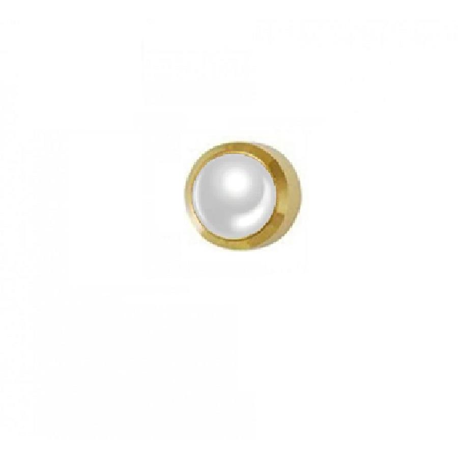 Обици за пистолет с бели перли