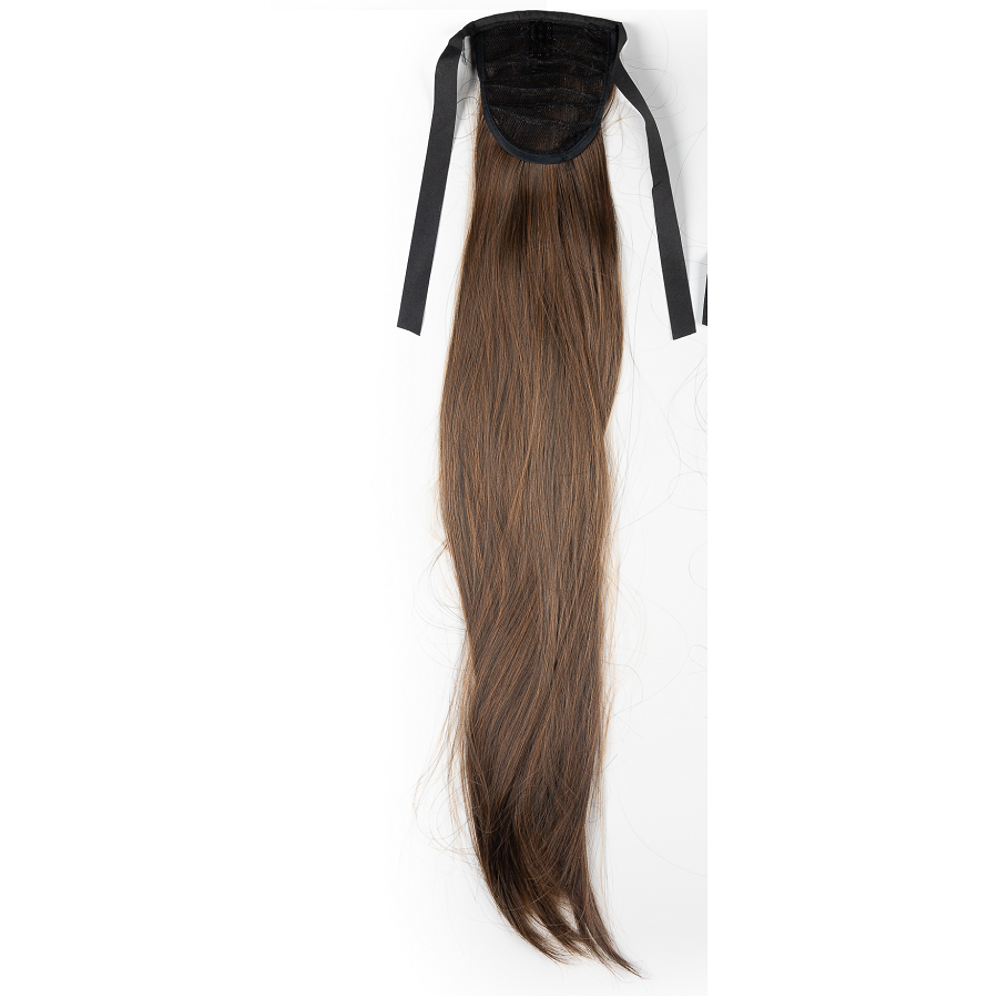 Опашка чуплив косъм с лента - кестеняво