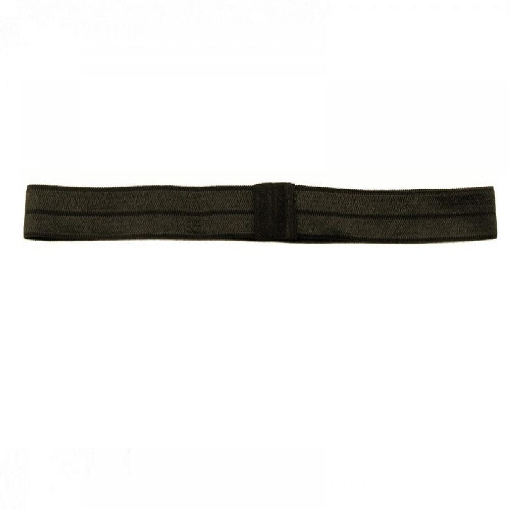 Спортно елегантна лента със силикон черна