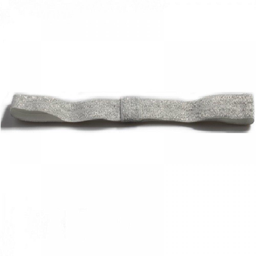 Спортно елегантна сребърна лента за чело