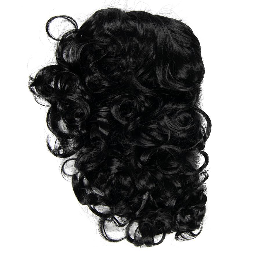 Изкуствена чуплива коса - черно
