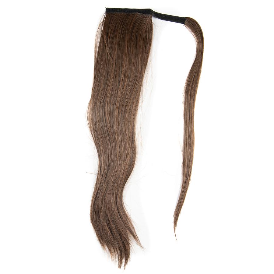 Опашка чуплив косъм с лента - светъл кестен