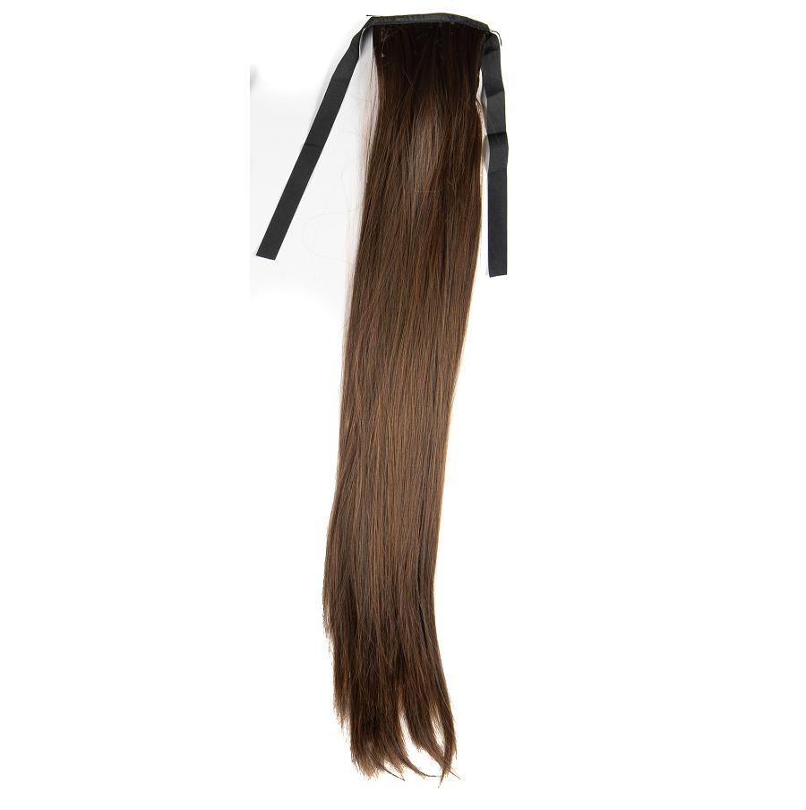 Опашка чуплив косъм с лента - светло кестеняво
