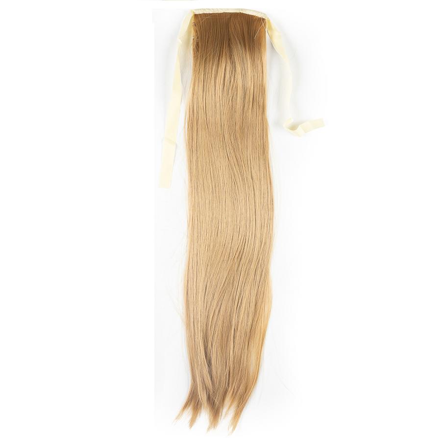 Опашка с лента от изкуствен косъм - тъмно русо