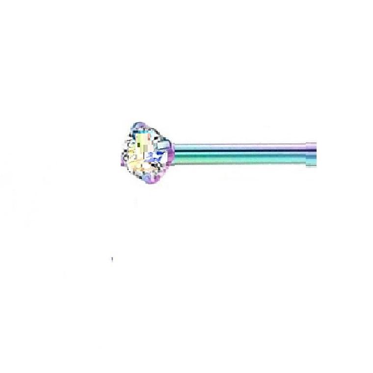 Хамелеонова обица за нос хамелеонов цирконий