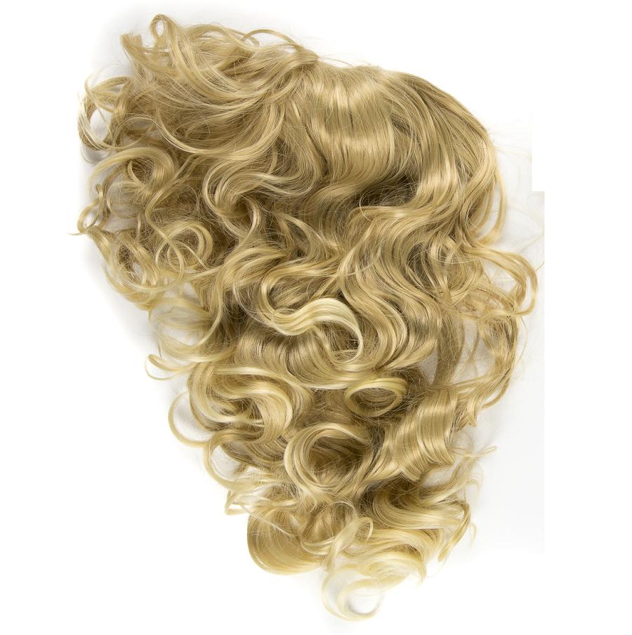 Изкуствена чуплива коса - тъмно русо
