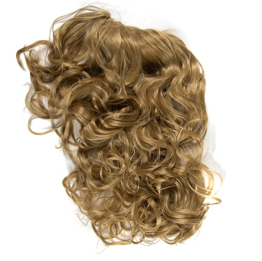 Къдрава изкуствена коса за обем на шнола