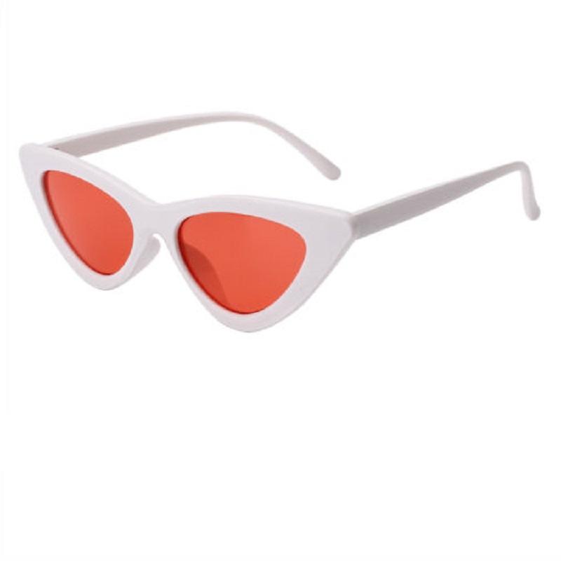 Очила с червени стъкла котешка форма