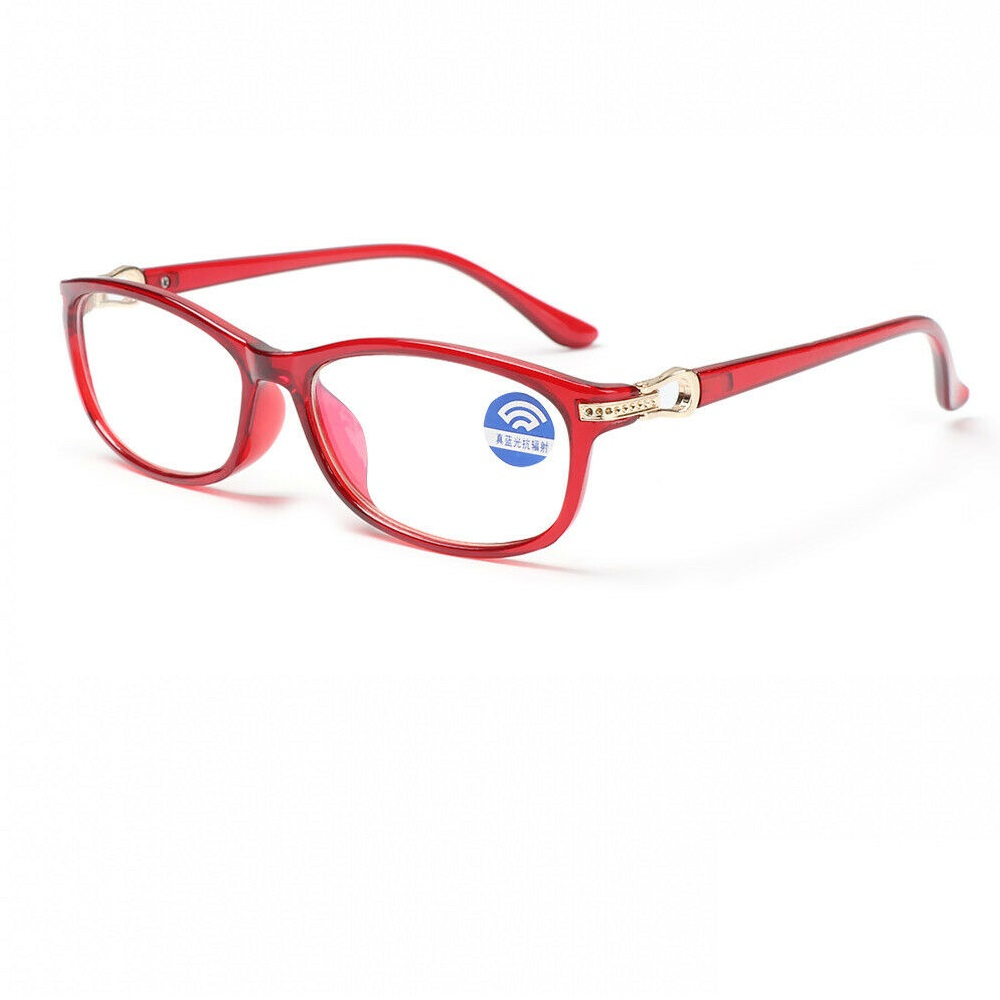 Прозрачни очила с червена рамка очила за жени