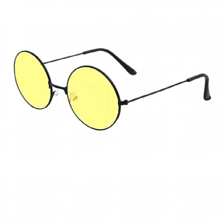 Унисекс жълти кръгли очила